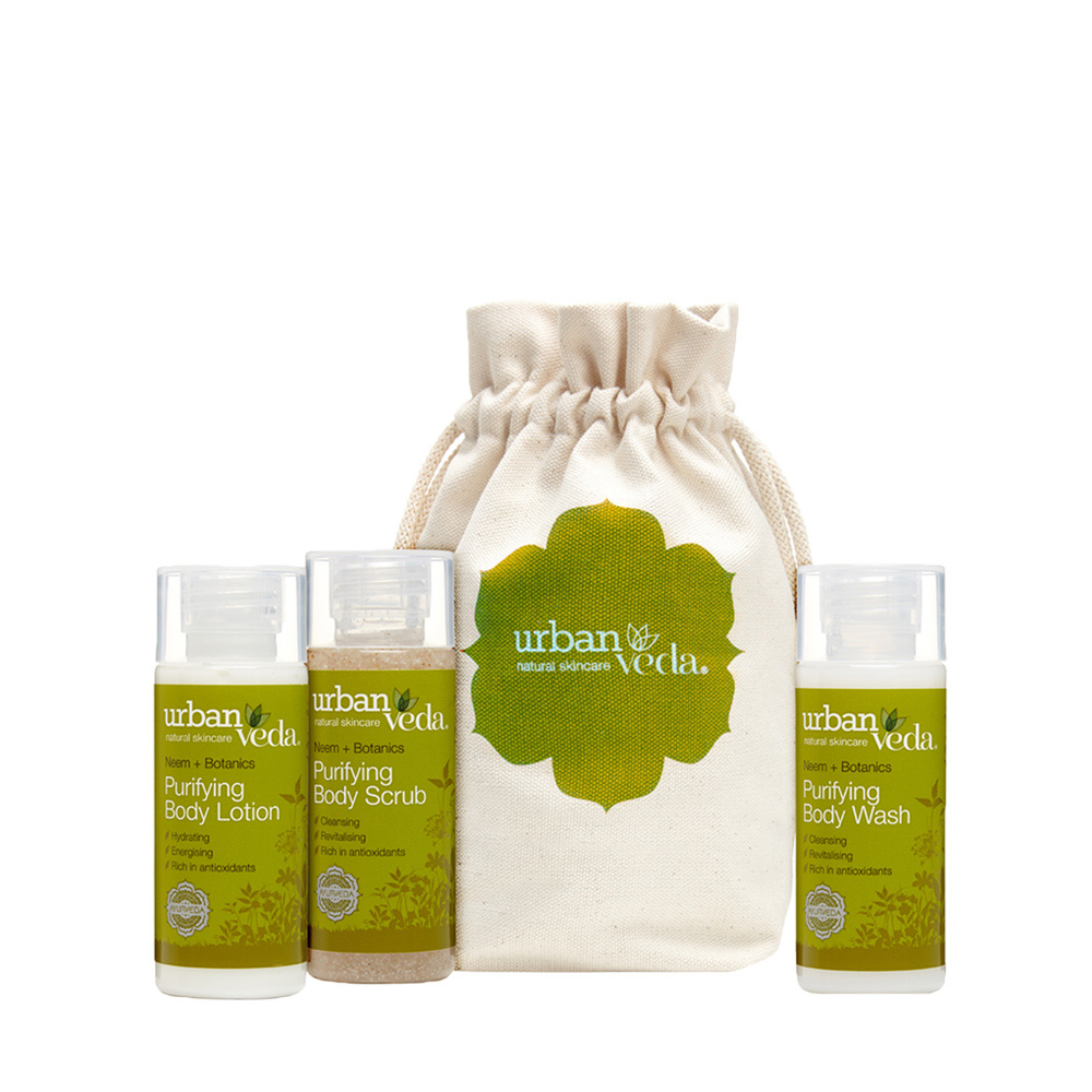 Urban Veda purifying body deluxe travel gift set