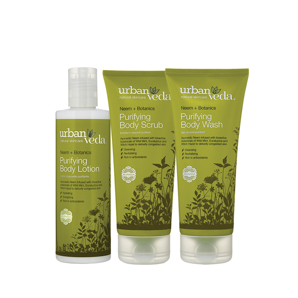 Urban Veda Purifying body rituals gift set