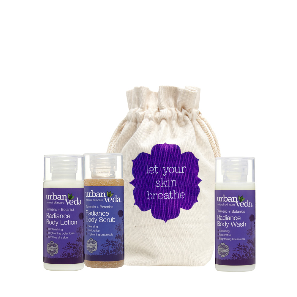 Urban Veda body deluxe travel gift set