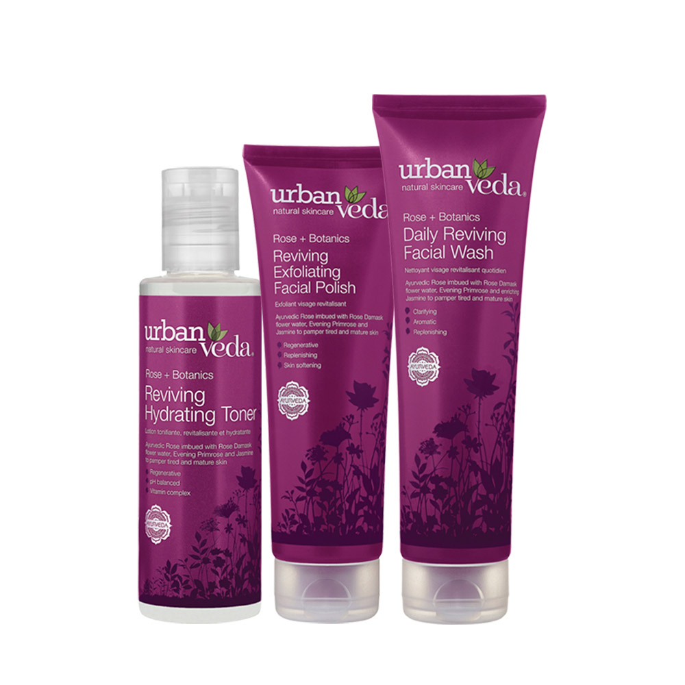 Urban Veda reviving facial ritual gift set