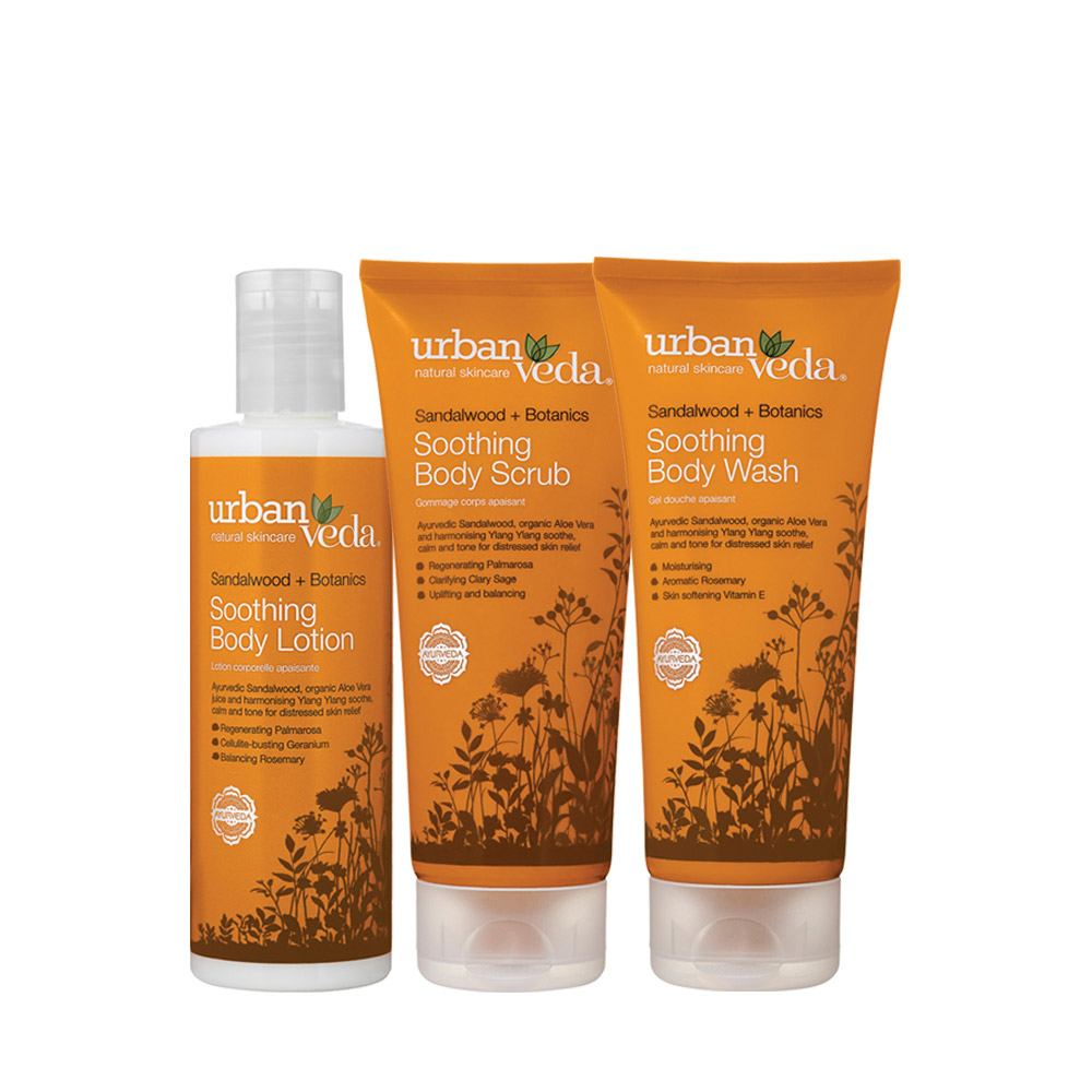 Urban Veda Soothing body rituals gift set