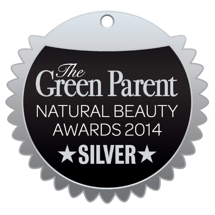 Green Parent 2014 Silver beauty award Urban Veda
