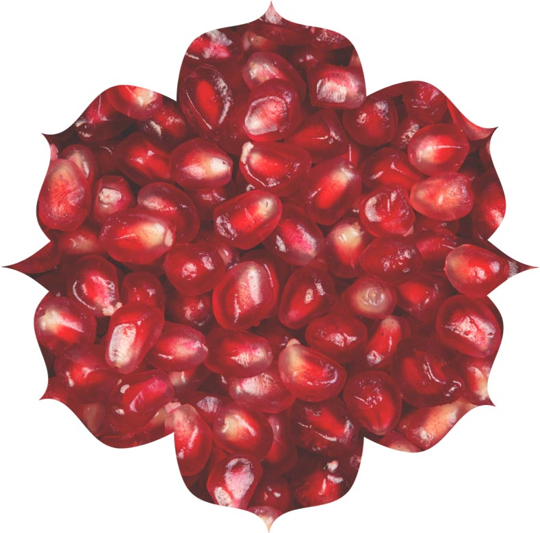 Pomegranate seed powder ingredient in skincare