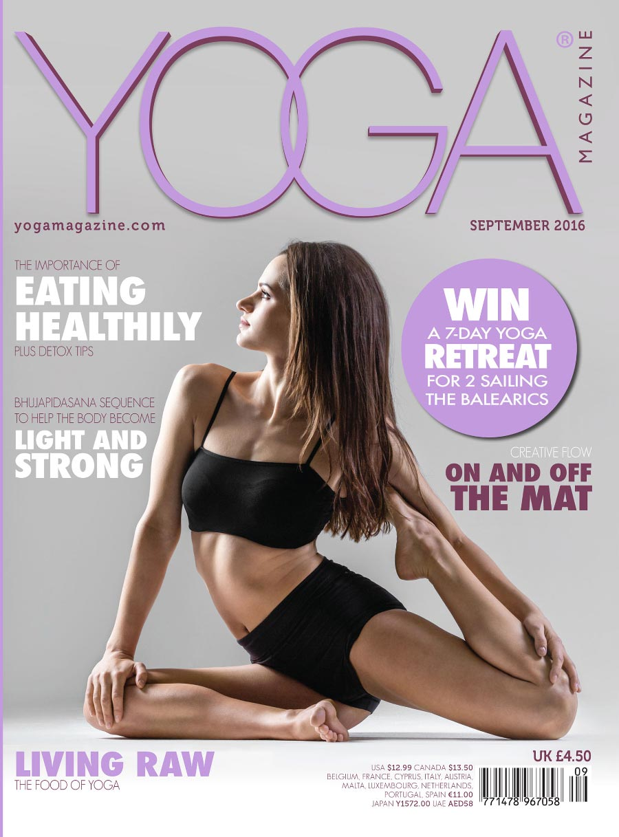 Yoga magazine cover