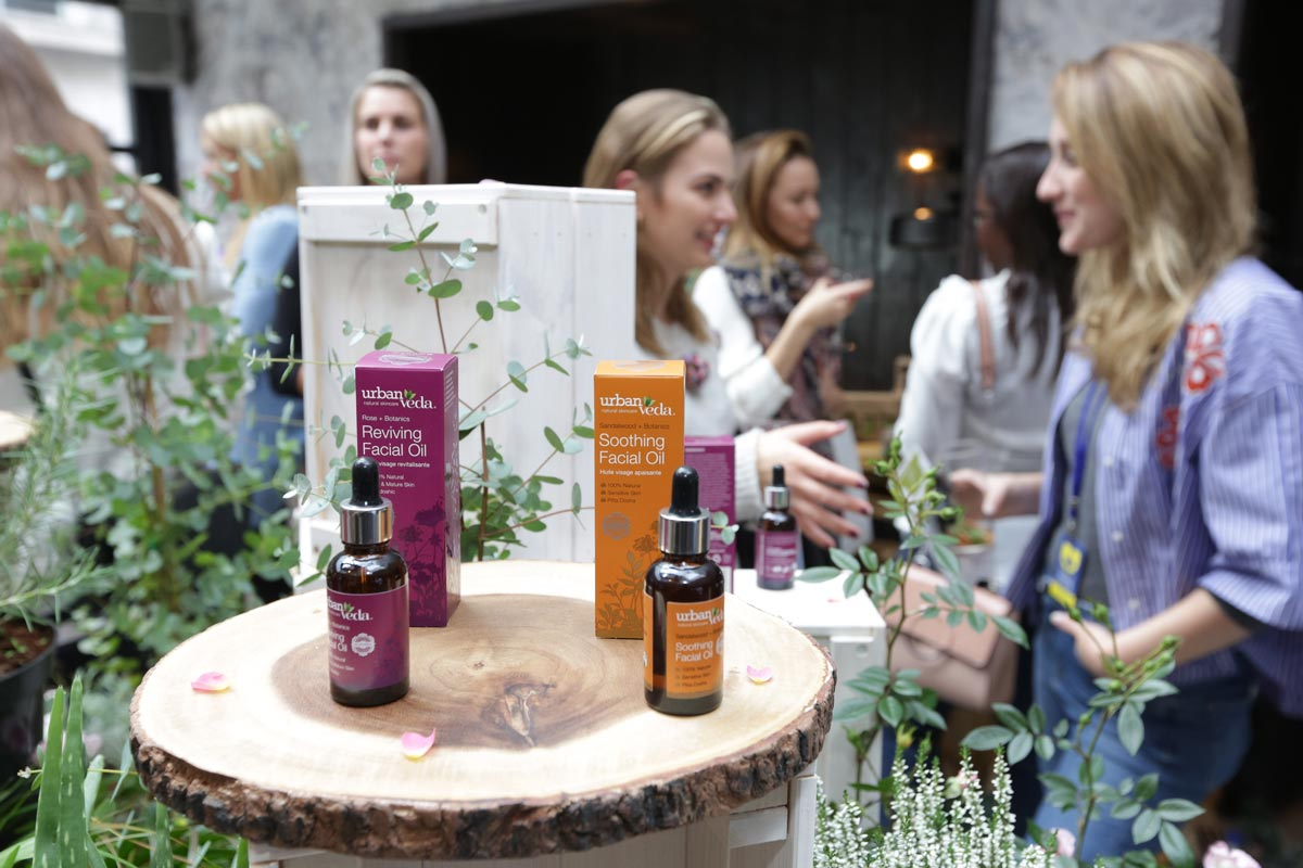 Urban Veda Facial Oil Launch party event