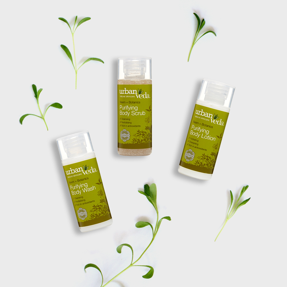 Image of Urban Veda Body Giftsets Body Ritual Travel Purifying