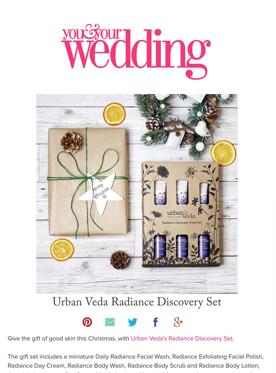 You & Your wedding urban veda skincare