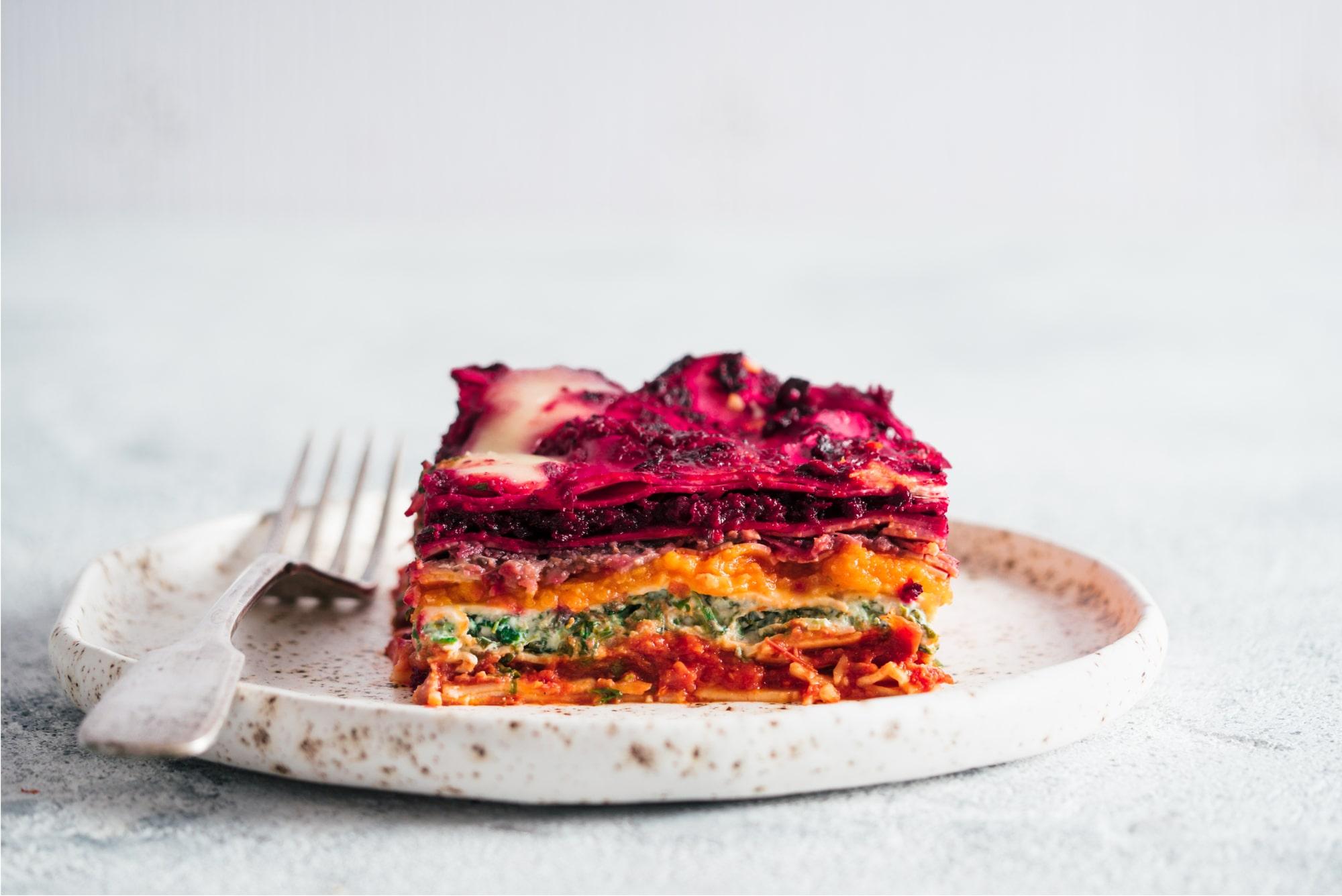 Vegan Rainbow Lasagne