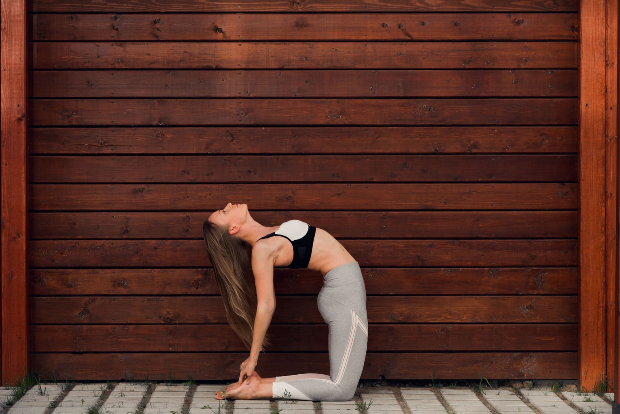 camel pose for self love