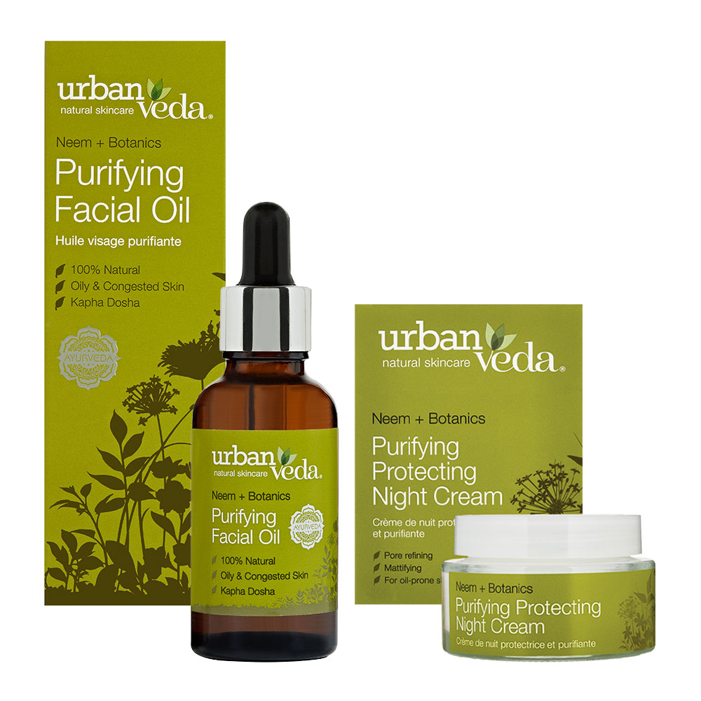 Urban Veda Product Bundle Night Time Self Care Purifying