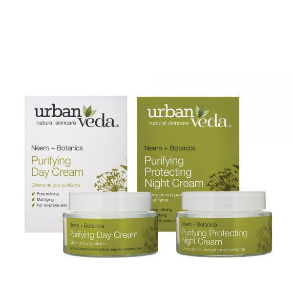 Urban Veda purifying cream gift set