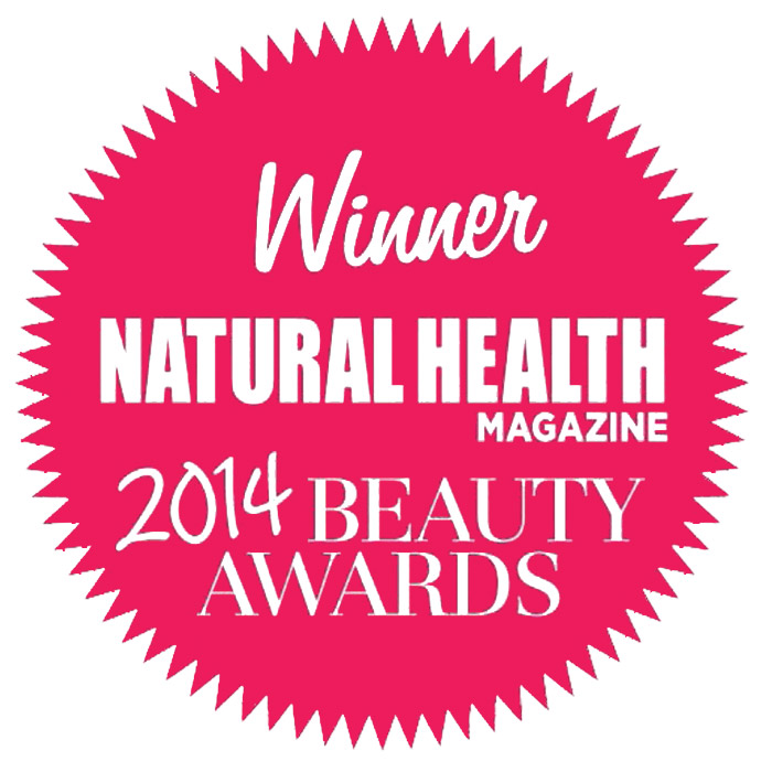 Natural Health 2014 beauty award Urban Veda