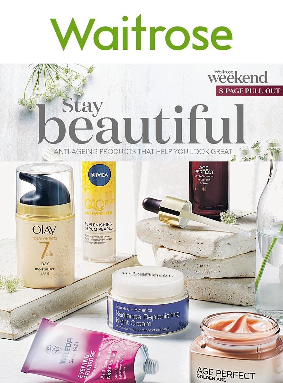 Waitrose weekend magazine skincare